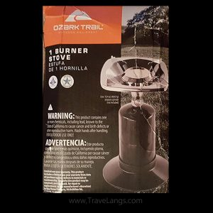 Ozark Trails single burner camping stove